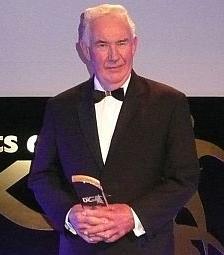 Brian receiving his UK Sports Coach Award