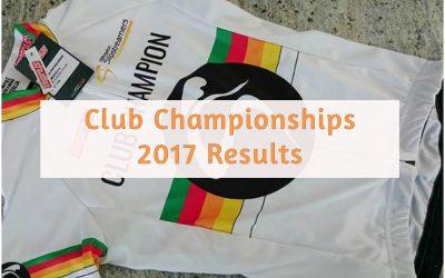 2017 Club Champs – Results So Far…
